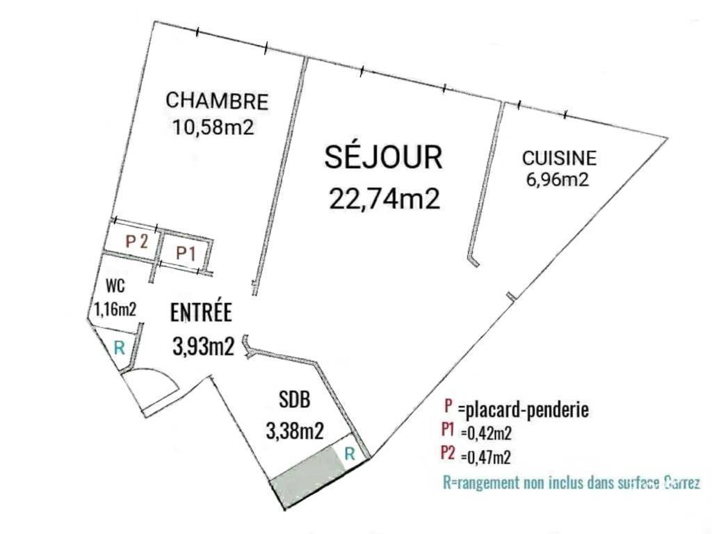 Immobilier Paris 12E 530.000 € 50 m²