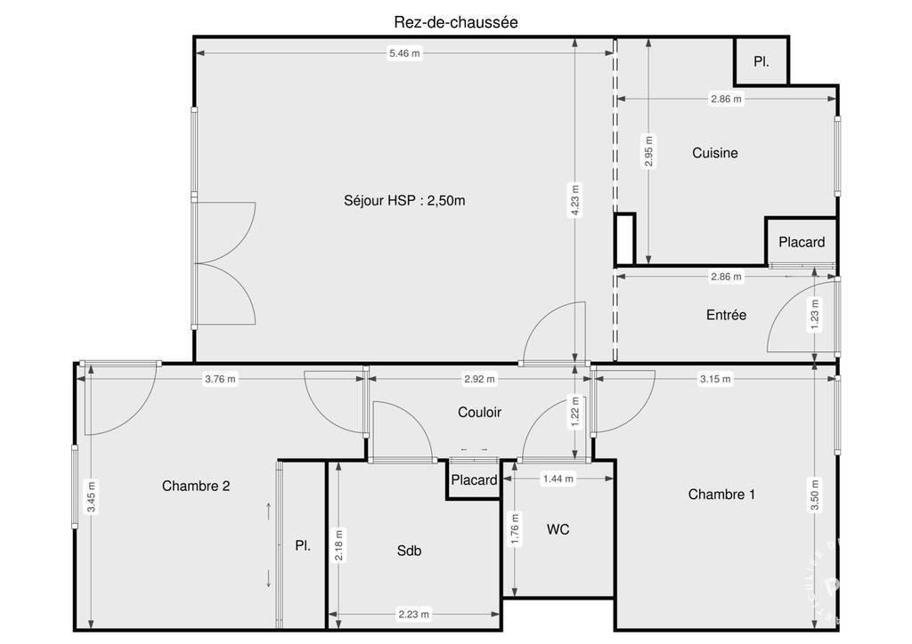 Vente Appartement Begles (33130) 68m² 269.000€