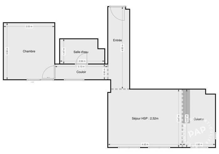 Immobilier Le Mans (72) 65.900€ 46m²