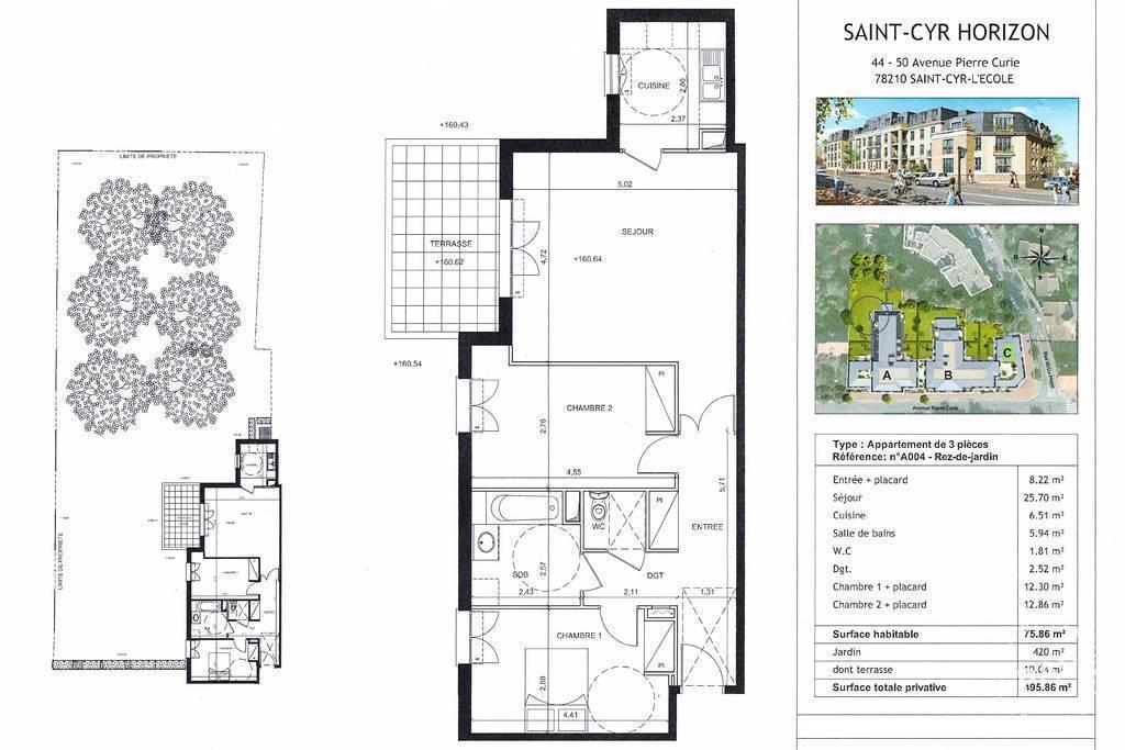 Vente Appartement Saint-Cyr-L'ecole (78210) 75m² 398.000€