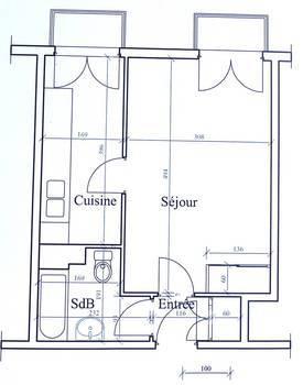 Location studio 27m² Paris 5E - 890€