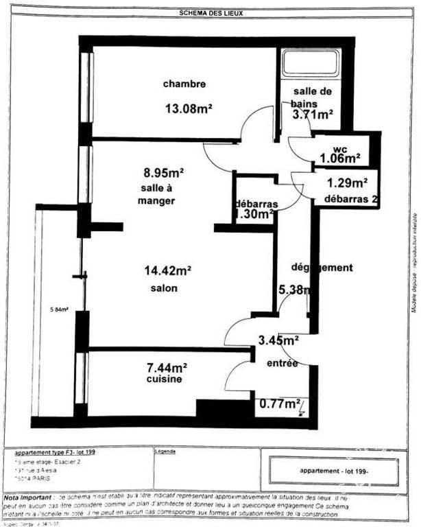 Immobilier Paris 14E 680.000€ 61m²