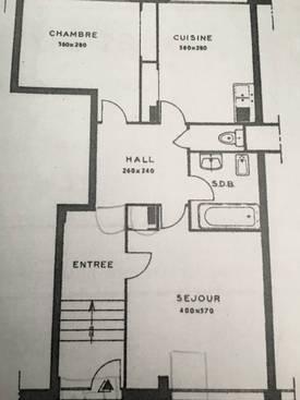 Location appartement 3pièces 60m² Lyon 3E - 1.000€