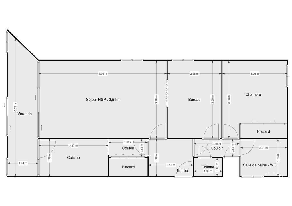 Vente Appartement Paris 19E 62m² 500.000€