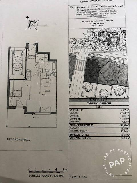 Vente Appartement Ferrieres-En-Brie (77164) 50m² 235.000€