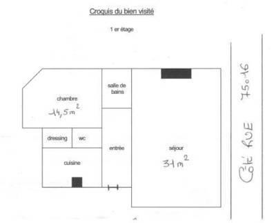 Location meublée appartement 2pièces 63m² Paris 16E - 1.900€