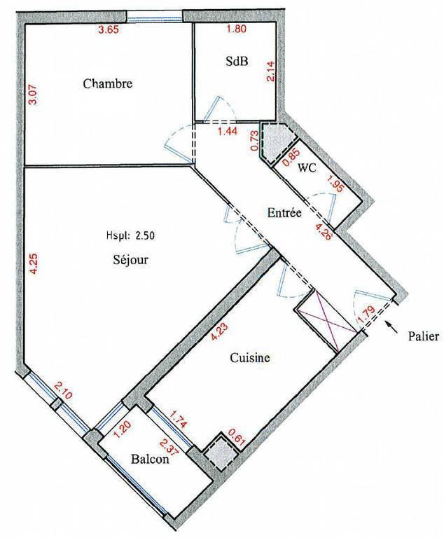 Location Appartement Montigny-Le-Bretonneux (78180) 54m² 1.050€