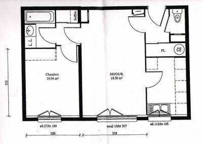 Location appartement 2pièces 44m² Pontoise (95) - 725€