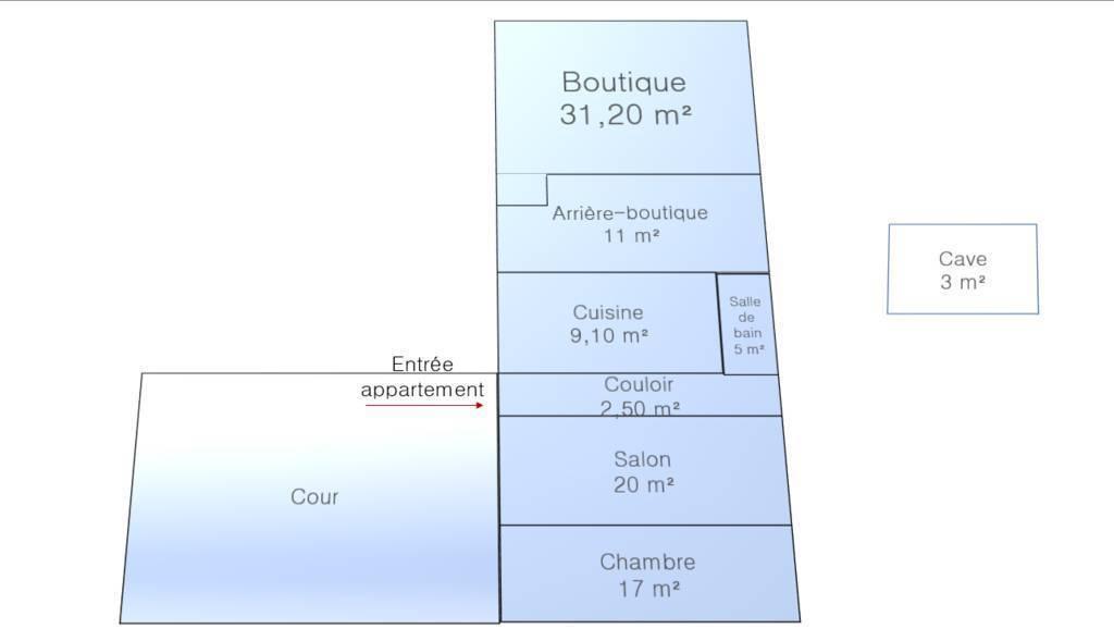 Vente et location Fonds de commerce Paris 9E 95m² 110.000€