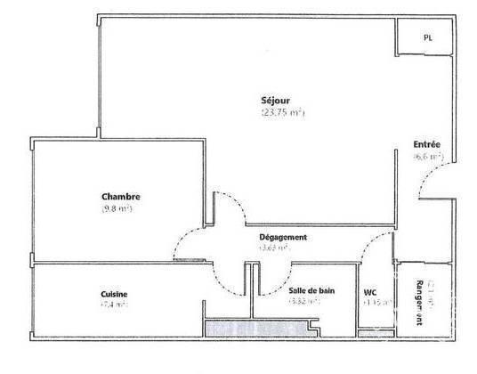 Vente Appartement Paris 16E 58m² 543.000€