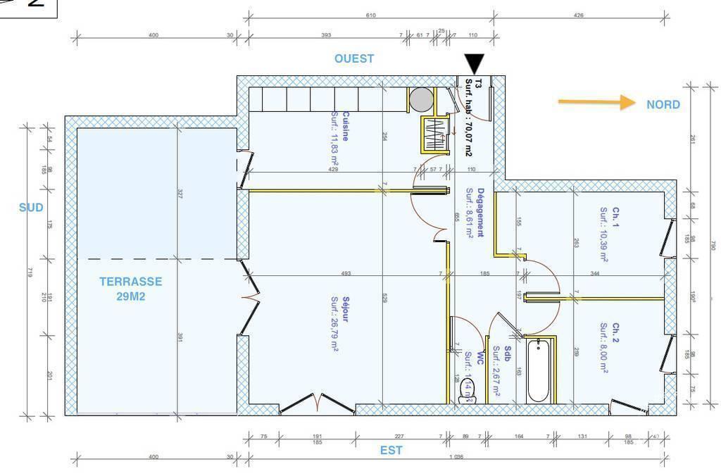 Appartement 378.000€ 70m² Collonges-Au-Mont-D'or (69660)