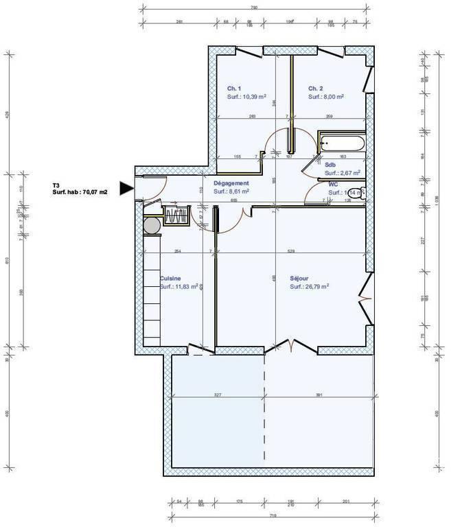 Immobilier Collonges-Au-Mont-D'or (69660) 378.000€ 70m²