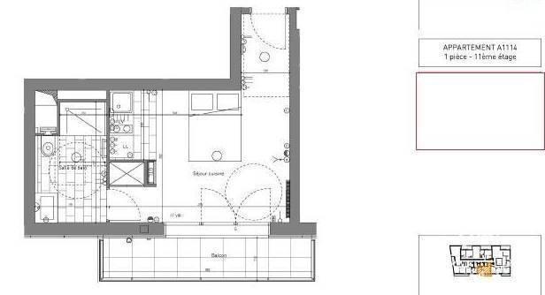 Location Appartement Paris 13E 31m² 1.390€