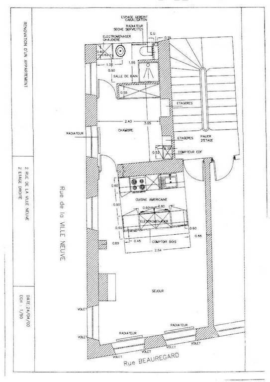 Immobilier Paris 2E 1.490€ 37m²