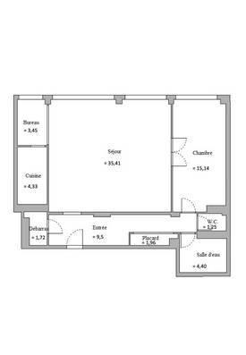 Vente appartement 2pièces 77m² Paris 5E - 1.030.000€