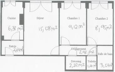 Vente appartement 3pièces 52m² Paris 12E - 485.000€