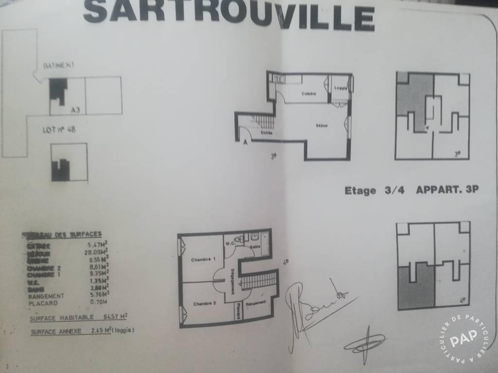 Vente Appartement Sartrouville 66m² 198.500€