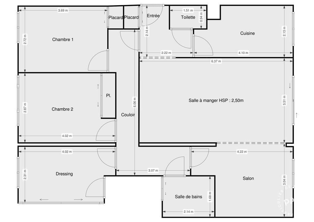 Vente Appartement Paris 19E 93m² 760.000€