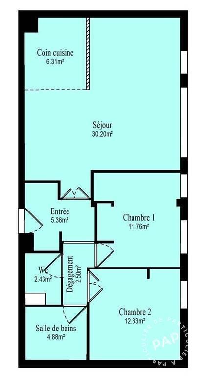 Appartement 682.000€ 76m² Issy-Les-Moulineaux (92130)