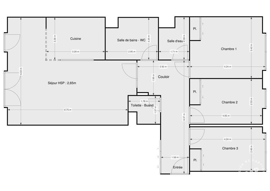 Vente Appartement Boulogne-Billancourt (92100) 97m² 1.107.000€