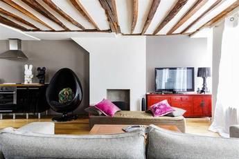 Location meublée appartement 2pièces 66m² Paris 4E - 3.000€