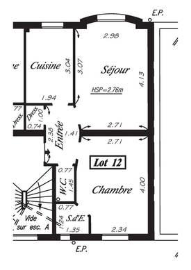 Location appartement 2pièces 36m² Clichy - 850€
