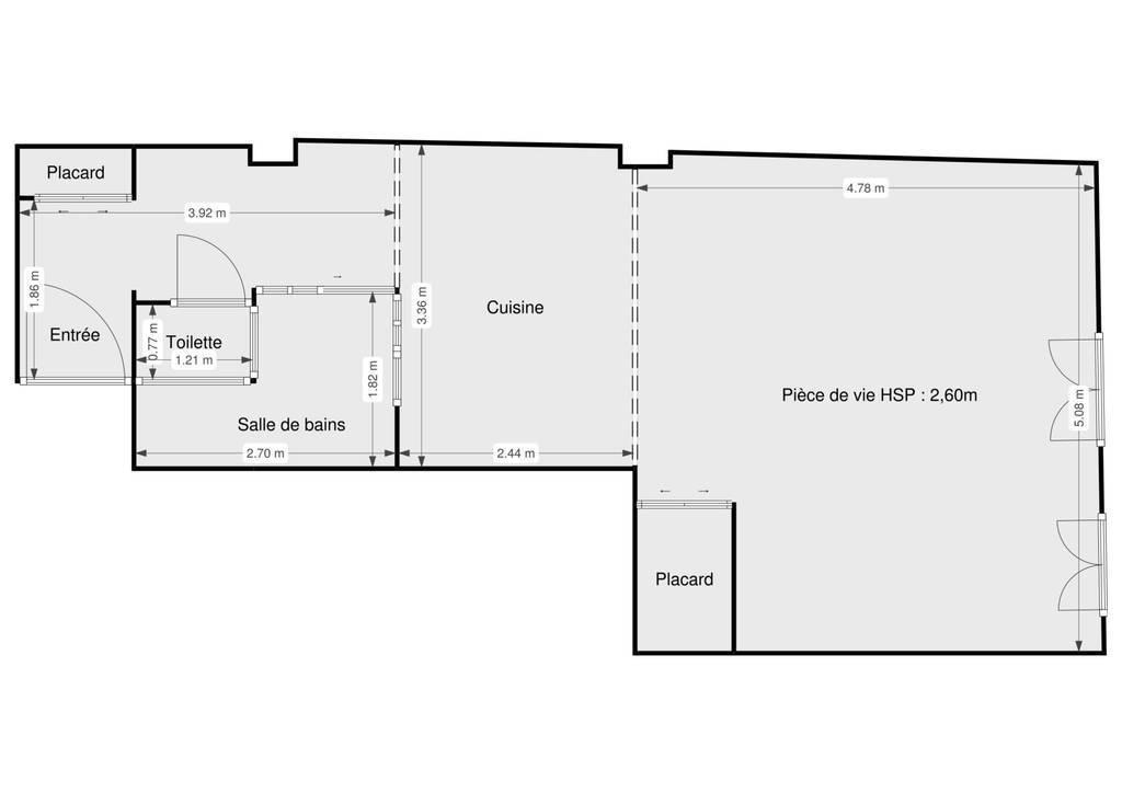 Immobilier Loi Carrez Paris 18E 590.000€ 44m²