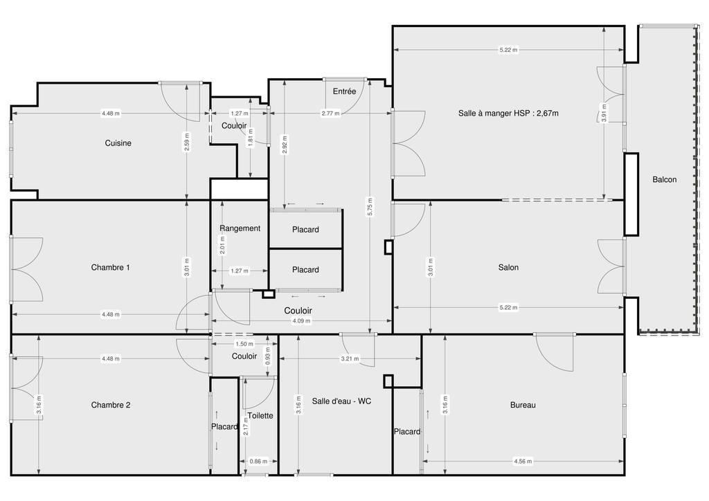 Vente Appartement Rambouillet (78120) 114m² 350.000€