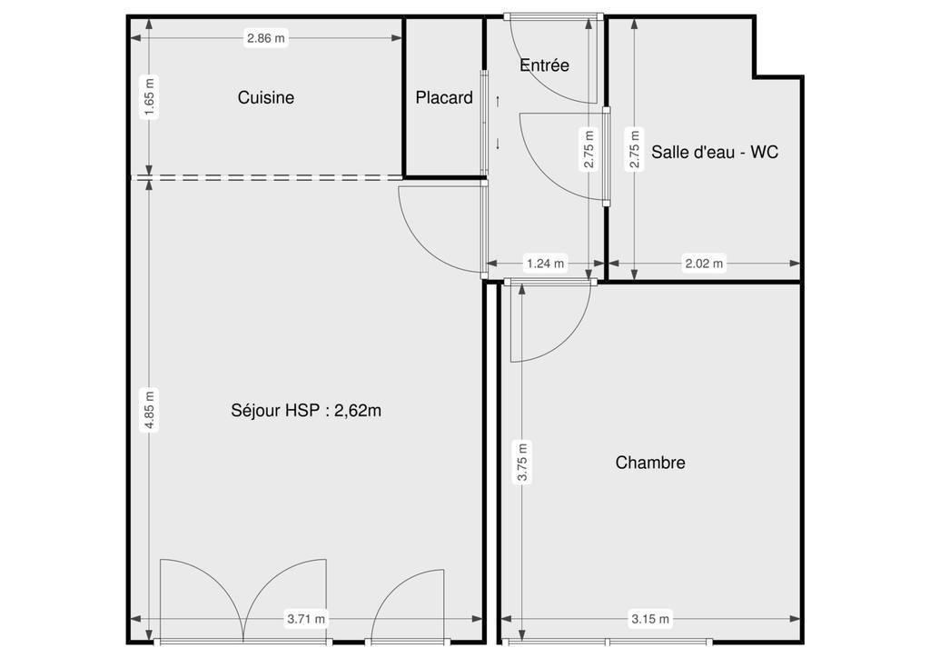 Vente Appartement Lognes (77185) 43m² 185.000€