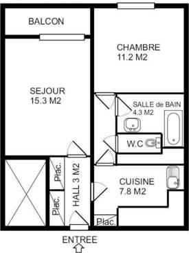 Vente appartement 2pièces 47m² Dijon (21000) - 83.000€