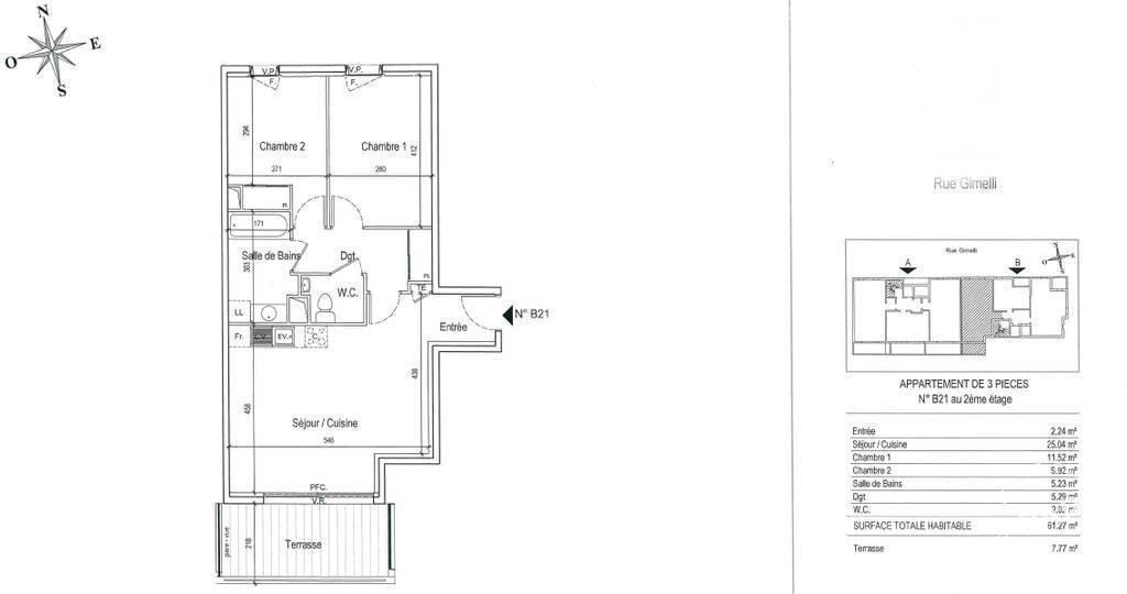 Location Appartement 61m²