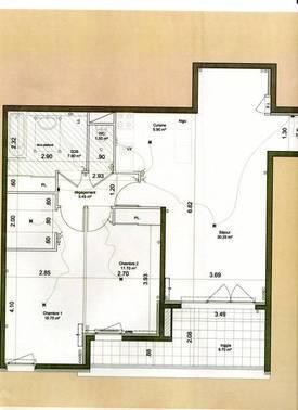 Location appartement 3pièces 80m² Nimes (30) - 815€