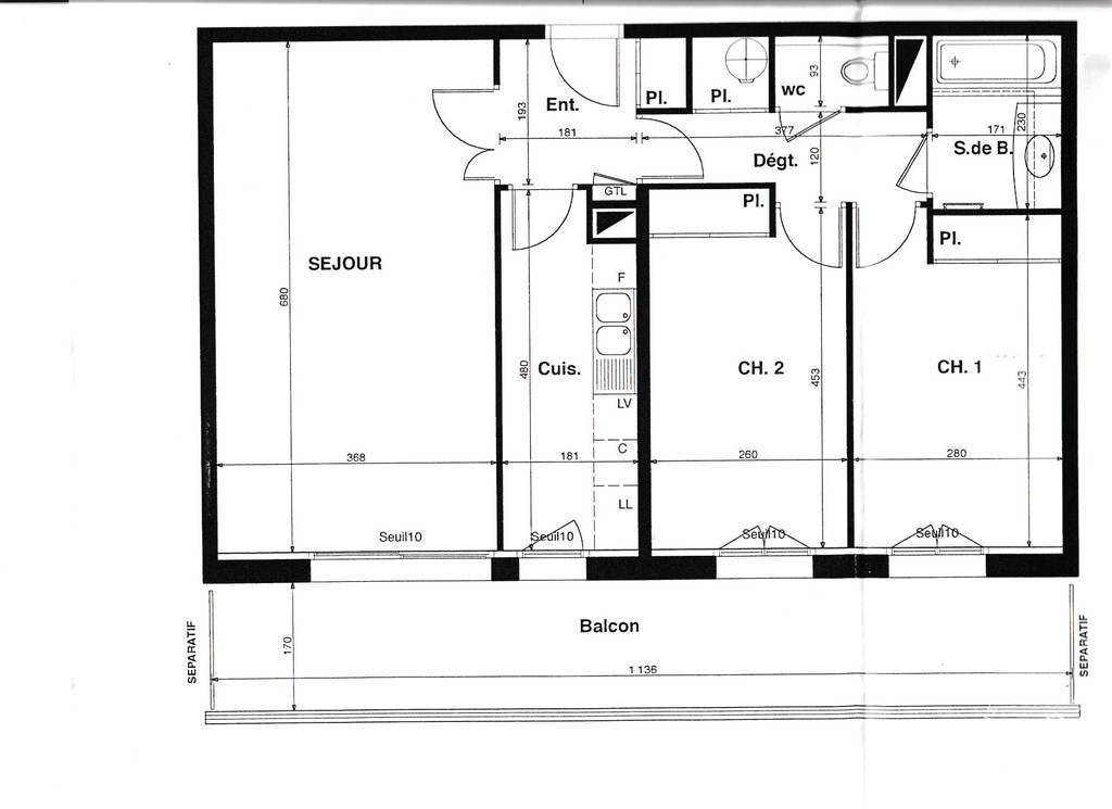 Location immobilier 2.300€ Paris 12E
