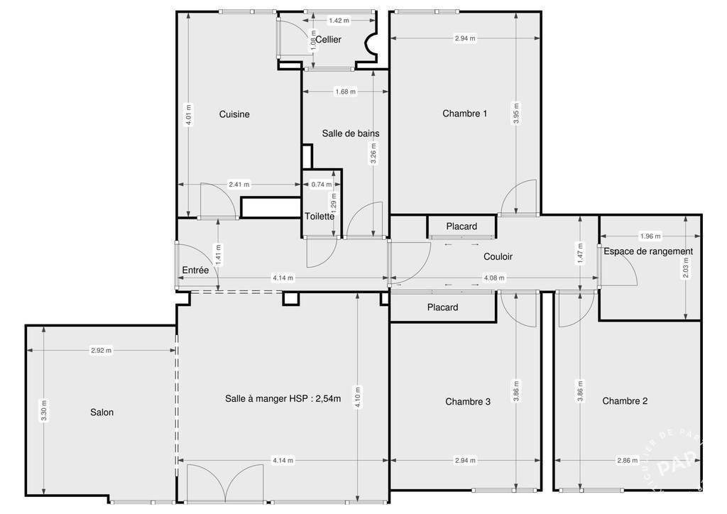 Vente Appartement Villeurbanne (69100) 85m² 314.000€