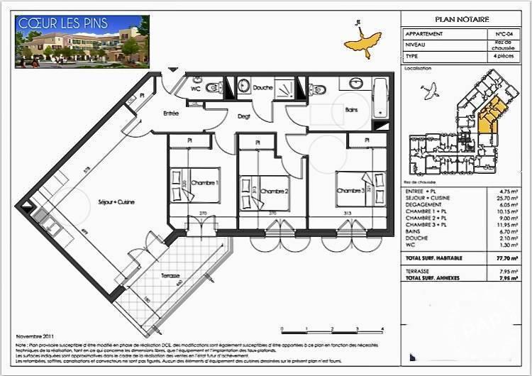 Vente Appartement Roquefort-Les-Pins (06330)