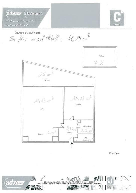 Vente Appartement Aix-En-Provence (13) 46m² 249.000€