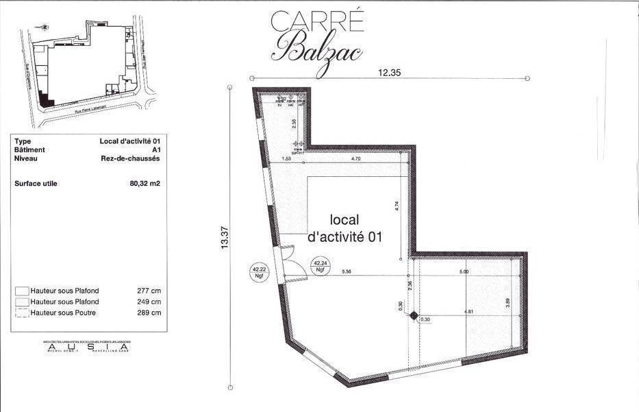Location Local commercial Lagny-Sur-Marne (77400) 80 m² 2.160 €