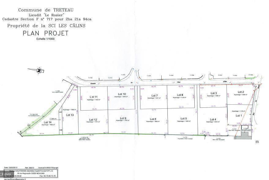 Vente Terrain Treteau (03220)  162.000€