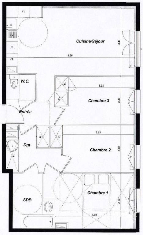 Location immobilier 1.110€ Yerres (91330)