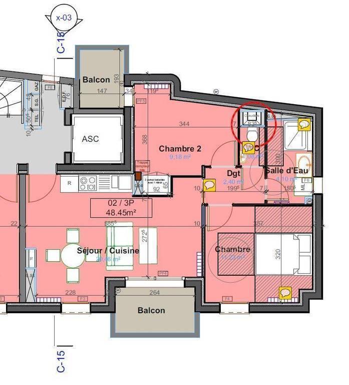 Cuisine équipée 5m2: Location Appartement 3 Pièces 50 M² Antony (92160)