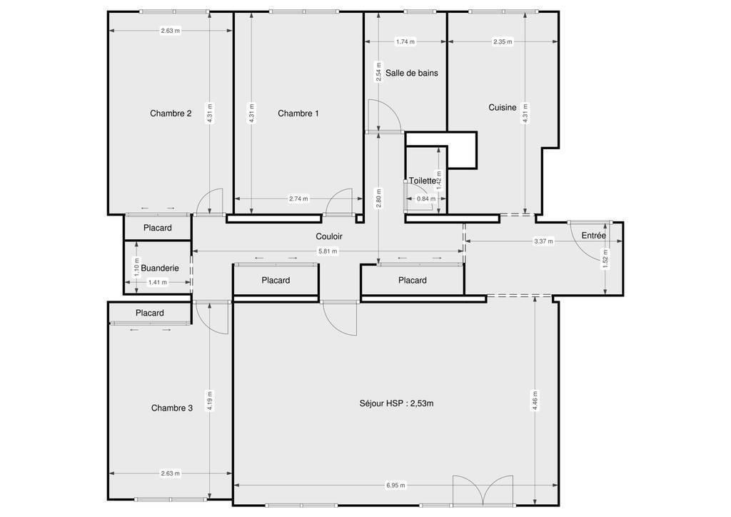 Vente Appartement L'hay-Les-Roses (94240) 90m² 310.000€