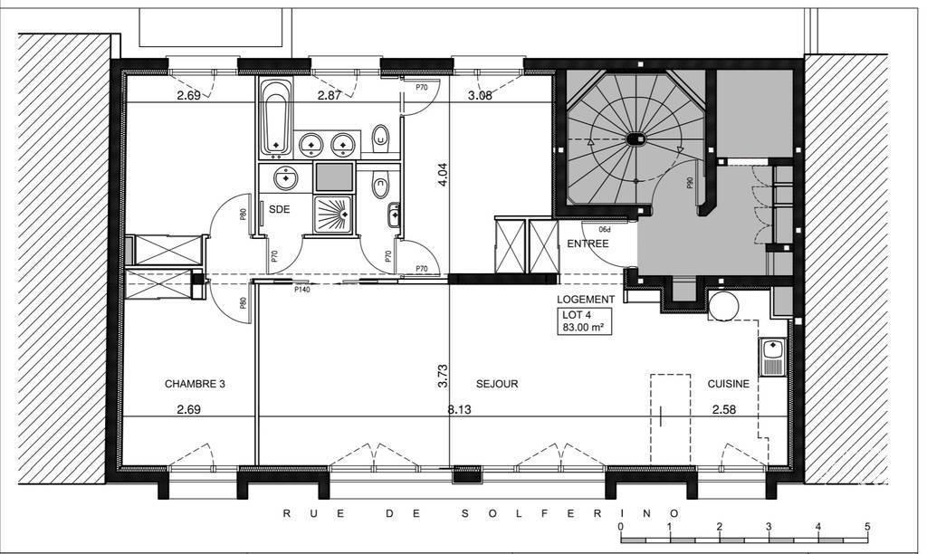 Location Appartement 83m²