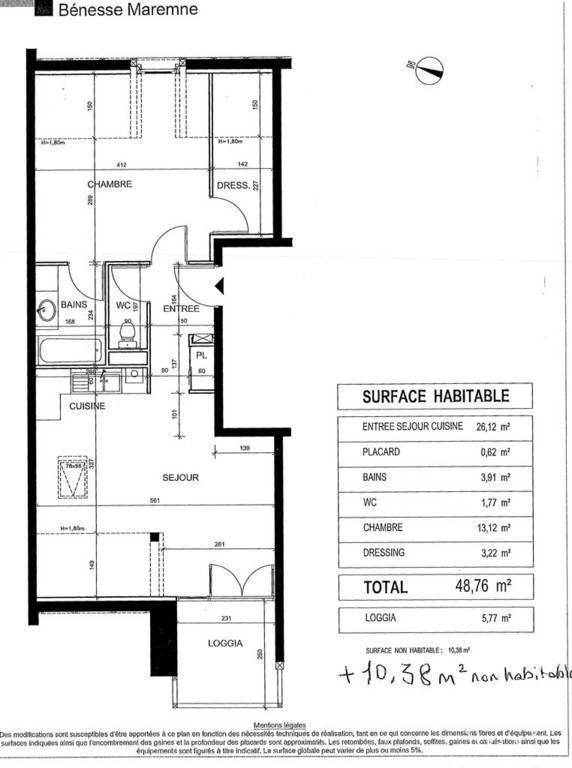 Appartement 159.000€ 49m² 5 Km De Labenne
