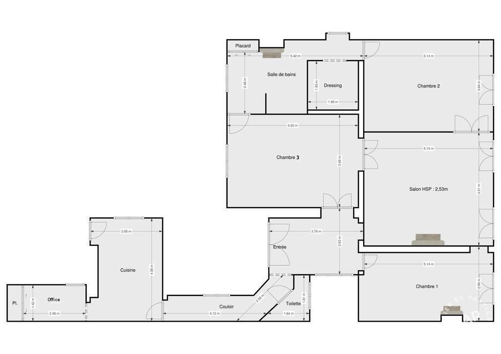 Vente Appartement Paris 11E (75011) 115m² 1.480.000€