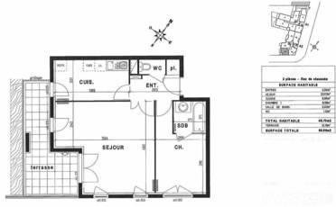 Vente appartement 2pièces 49m² Massy (91300) - 239.000€