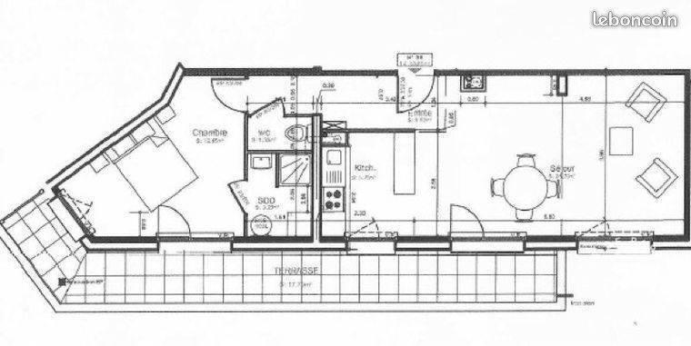 Vente Appartement Compiègne (60200) 65m² 210.000€