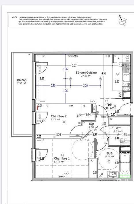Vente Appartement Meudon (92190) 59m² 495.000€