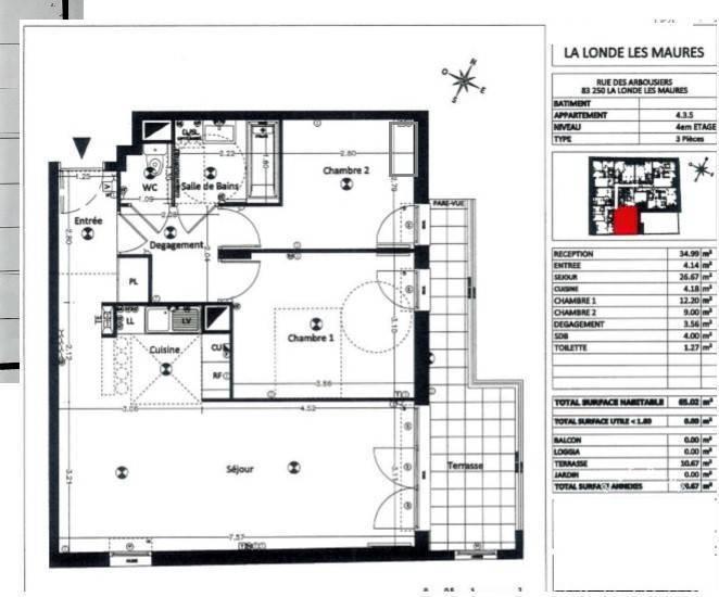 Appartement La Londe-Les-Maures (83250) 345.000€