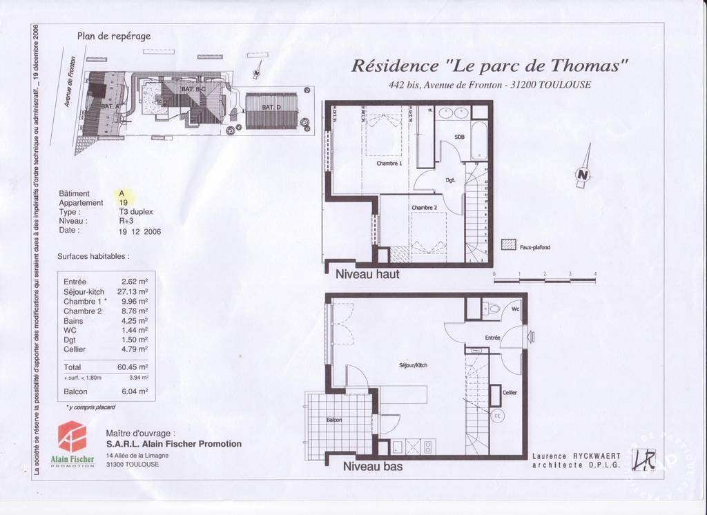 Immobilier Toulouse (31200) 163.000€ 65m²