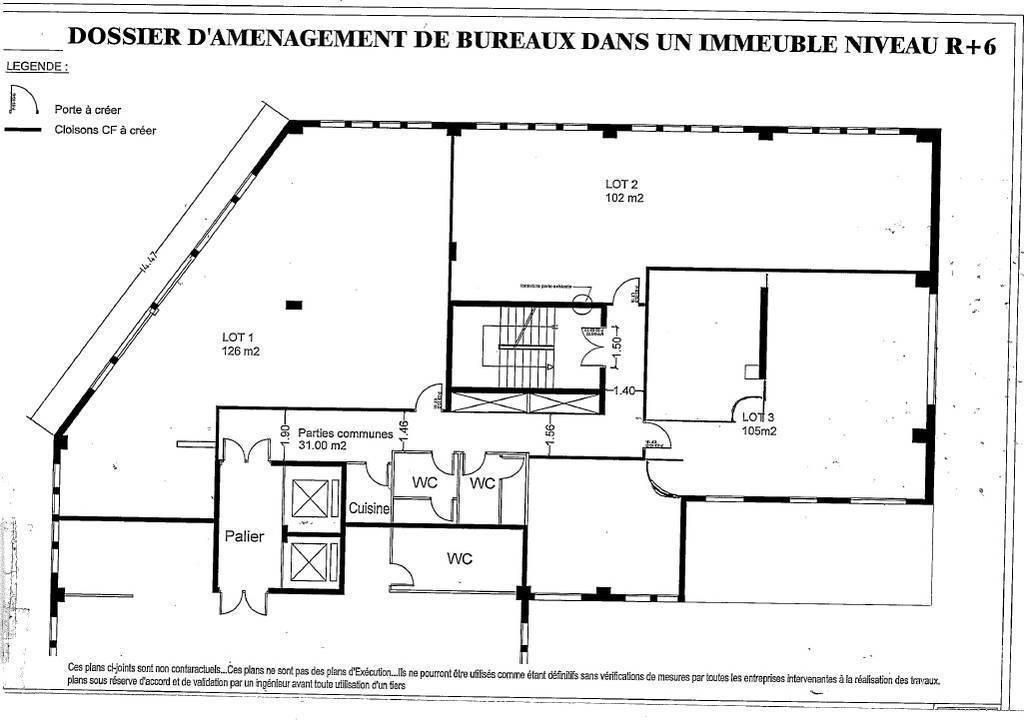 Bureaux, local professionnel Loyer Ht Hc 2.695€